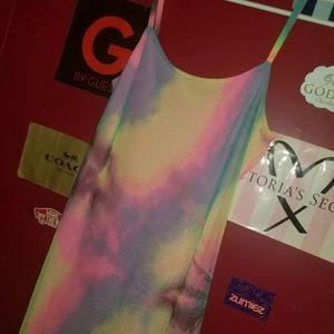 tie dye midi dress size L